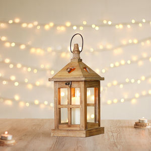 Wooden Heart Lantern - candles & home fragrance
