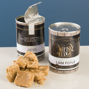 Personalised Whisky Fudge - gifts for him