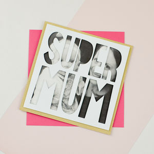 Personalised Photo Mothers Day Card 'Super Mum'