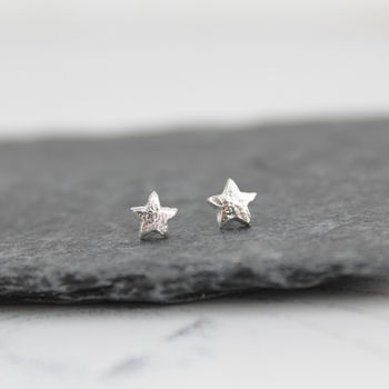 Sterling Silver Mini Star Studs