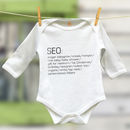 Seo Christmas Babygrow For New Baby