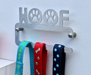 'Woof' Dog Lead Hanger - new in pets