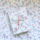 Unicorns And Doughnuts Wrapping Paper