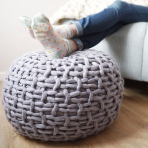 Classic Plympton Hand Knitted Footstool - housewarming gifts