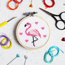 Flamingo Mini Cross Stitch Craft Kit