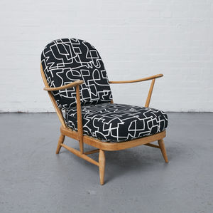 Ercol Windsor Chair Zag Zig - armchairs