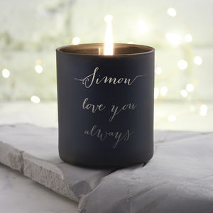 Men's Personalised Love You Candle