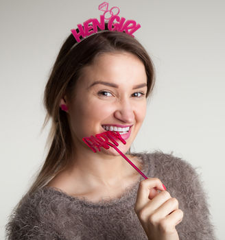 Hen Do Headband And Party Photo Prop Gift Set