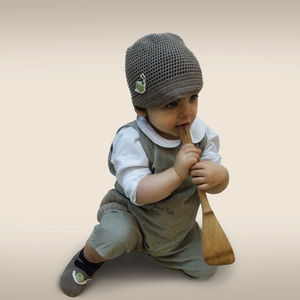 Handmade Bamboo Hat And Booties Set - children's slippers