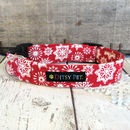 Christmas Snowflake Dog Collar