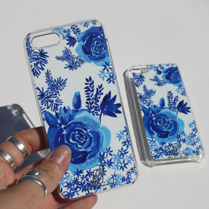 Blue China Print Case For iPhone