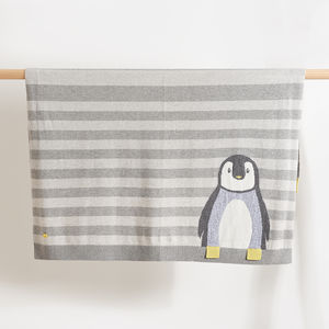 Dancer Striped Penguin Baby Blanket - baby care