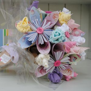 New Baby Flower Bouquet - gifts for babies