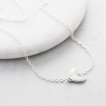 Moon And Back Silver Necklace