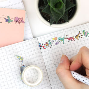 Dinosaur Washi Tape - decorative tape & washi tape