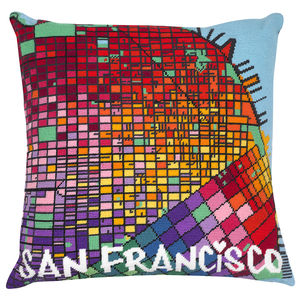 Contemporary San Francisco City Map Tapestry Kit - creative kits & experiences