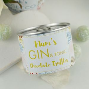 Gin And Tonic Chocolate Truffle Tin - personalised