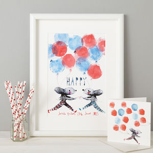 Personalised Baby Boy Nursery Gift Print
