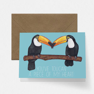 Toucan Pair Love Card - original valentine's cards