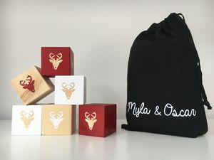 Limited Edition Wooden Reindeer Play Cubes
