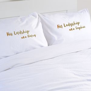 In Your Own Words Personalised Pillowcase Set - bed, bath & table linen