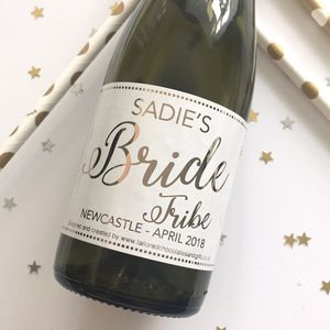 Bride Tribe Champagne Labels X 10 - hen party ideas