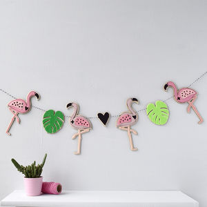 Flamingo Garland - decorative accessories