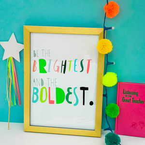 Children's Art Print 'Brightest and boldest' - new in prints & art