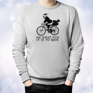 'Oh What Fun It Is To Ride' Christmas Bike Sweater - christmas jumpers