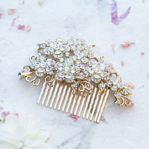 Diana Asymmetric Crystal Hair Comb