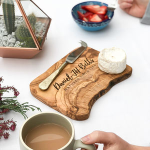 Personalised 'Birthday' Cheese Board Gift - gifts for him
