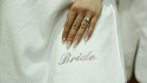 Personalised Gift For Brides Bath Robe Towel Wrap