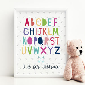 Personalised Alphabet Name Print - winter sale