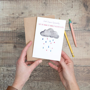 Sympathy Cloud Card - sympathy & sorry cards