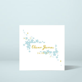 Personalised Star New Baby Card