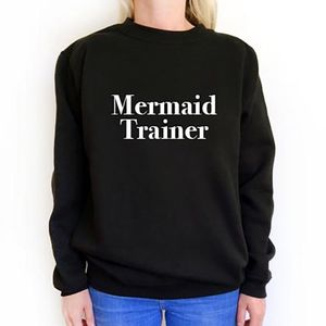 'Mermaid Trainer' Slogan Sweatshirt
