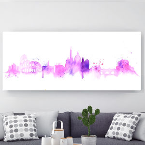 Rome, Canvas Art - maps & locations