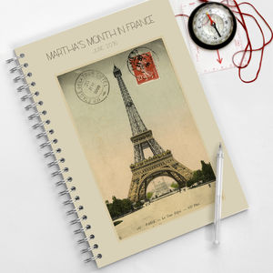 Eiffel Tower Journal - travel journals & diaries