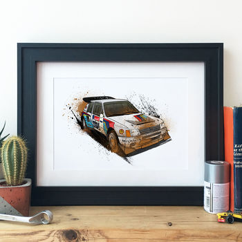 Peugeot 205 Group B Rally Car Illustration