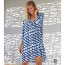 Mila Shirt Tunic Dress Blue Mustique Print
