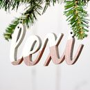 Personalised Metallic Christmas Tree Decoration