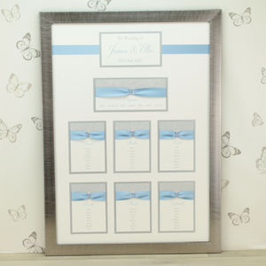 Luxury Sparkle Framed Wedding Table Plan - table numbers