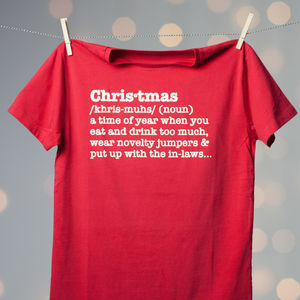 Christmas Definition Adults T Shirt