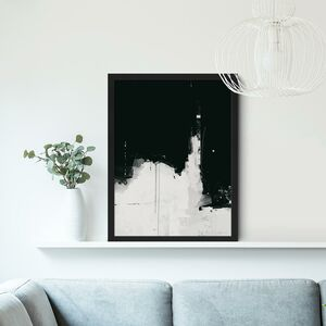 Black And White Abstract Wall Art