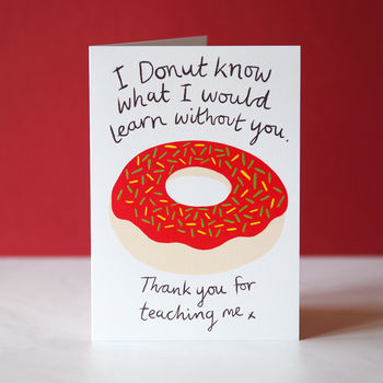 Donut Thank You Card For Teachers