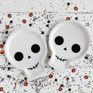 Halloween Skull Shaped Party Plate - party decorations