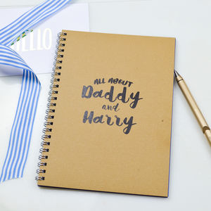 Daddy Gift Memory Book 'All About Us'