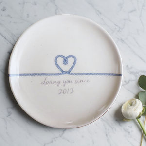 Personalised 'Loving You Since…' Plate - new gifts for her
