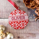 Personalised Christmas Jumper Pattern Bauble