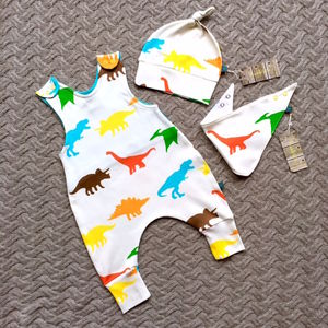 Dinosaur Dungarees Gift Set - new in baby & child